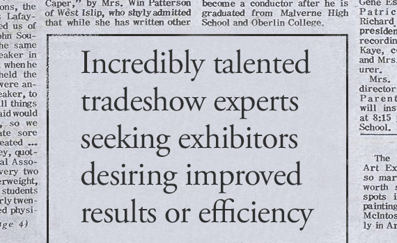 Trade show experts