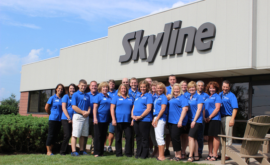 Skyline North trade show team photo