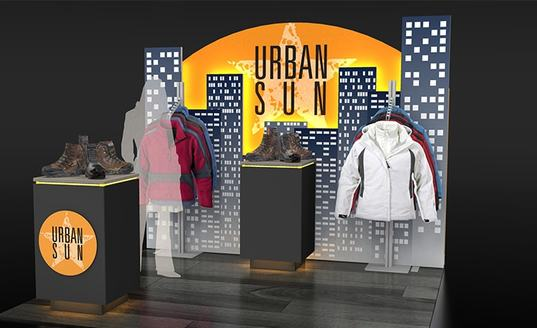 urban sun picturescape curved skyline exhibits
