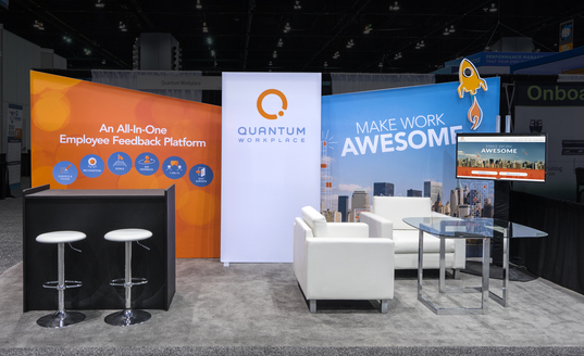 Quantum Workplace PictureScape and Custom Board Graphic MODULAR INLINE EXHIBITS