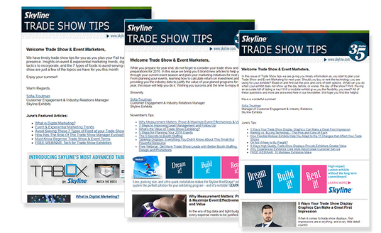 Skyline Trade Show Tips archive