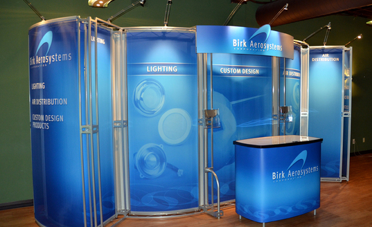 Birk Aerosystems Corporation trade show booth