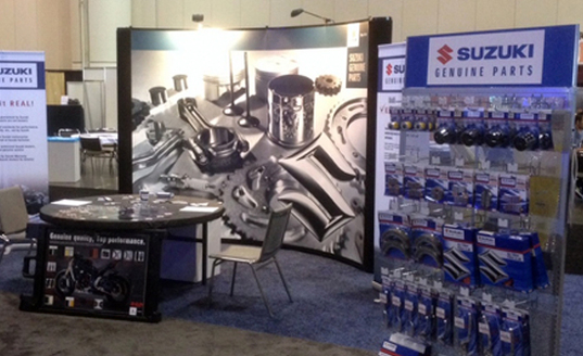 Suzuki Motors trade show booth