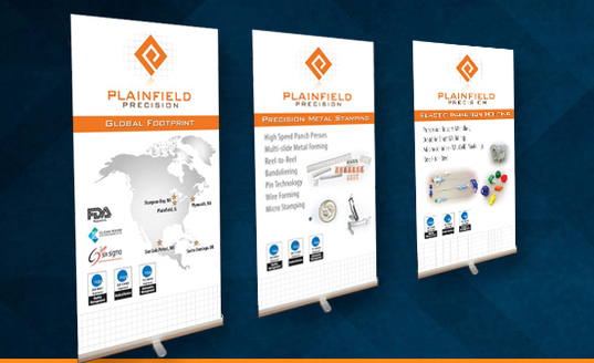 Plainfield Precision trade show booth