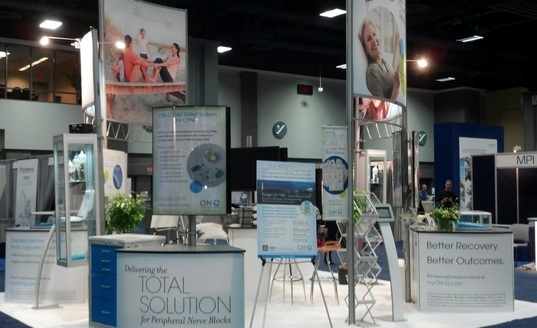 I-Flow trade show booth