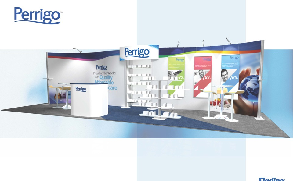 Perrigo trade show booth by Skyline Exhibits West Michigan