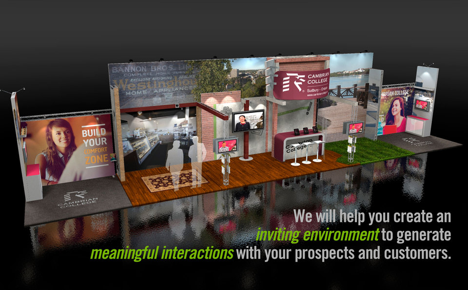 Skyline Southwestern Ontario's Custom Inline Trade Show Display Concept for Cambrian College