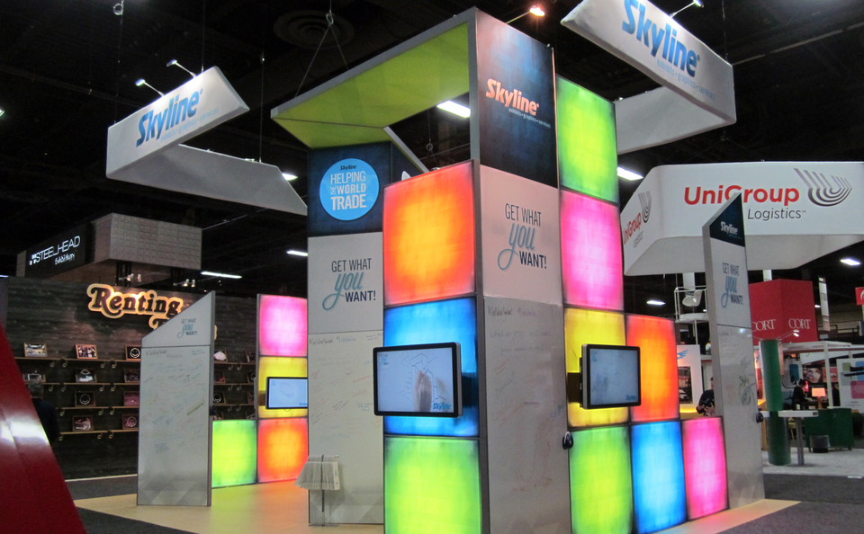 Skyline Exhibits Island Trade Show Display at EXHIBITORLIVE! 2015 in Las Vegas, NV