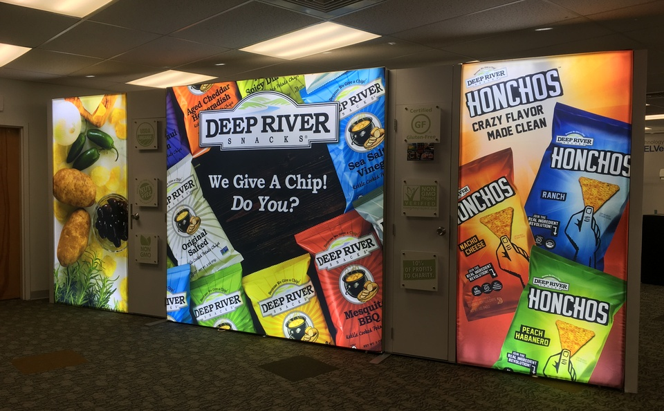 Deep River Snacks display