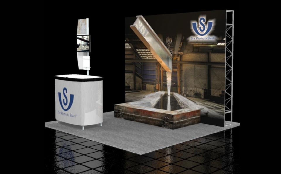 V & S Custom 10x10 Trade Show Exhibit