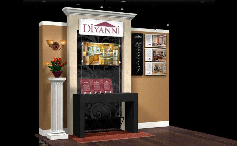 Dianni Homes 10x10 Custom Trade Show Exhibit
