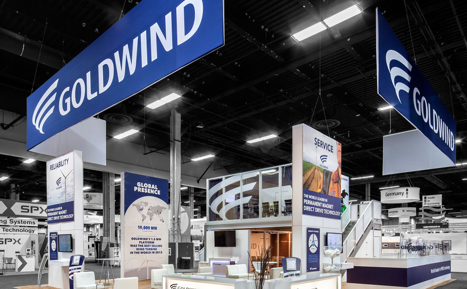 TradeTec Chicago, Goldwind trade show exhibit