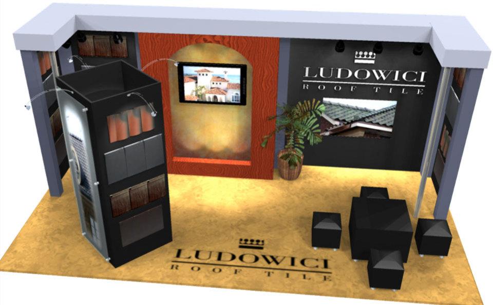 Ludowichi Roof Tile 10x20 Custom Inline Exhibit