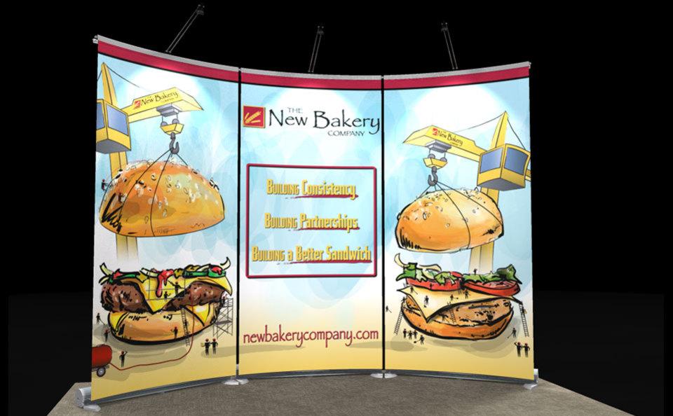 New Bakery 10x10 Exalt Banner Backwall