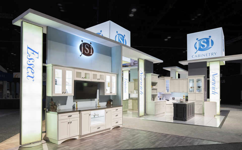 Skyline Northeast JSI Cabinetry Island booth
