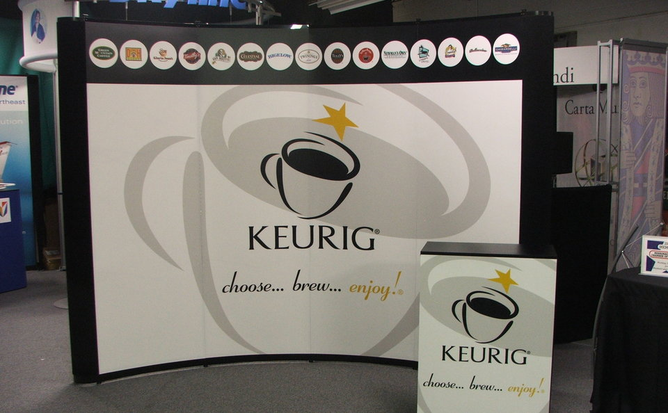 Skyline Northeast Keurig trade show backwall
