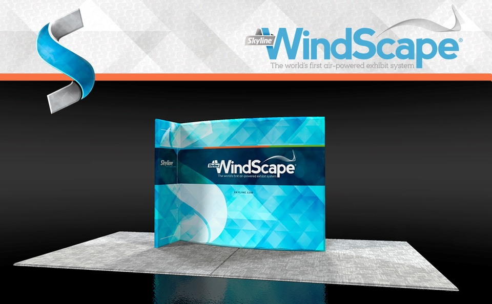 Windscape trade show booth example