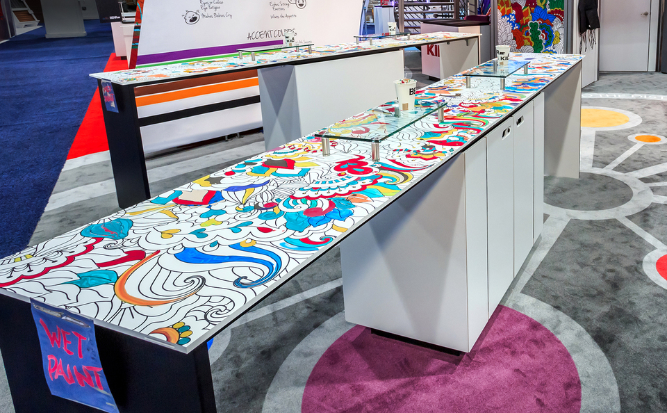 trade show events design tables tablox