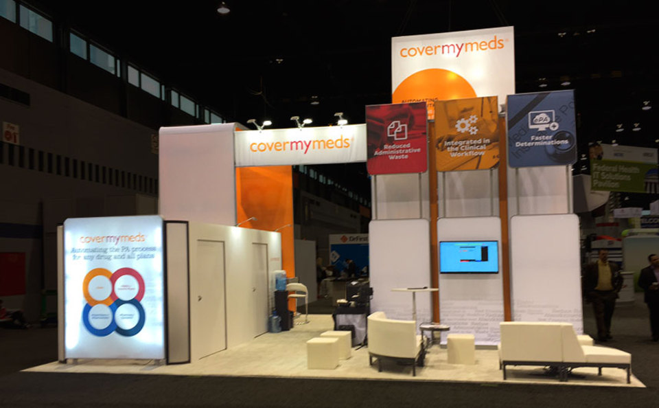 covermymeds 30x30 trade show exhibit