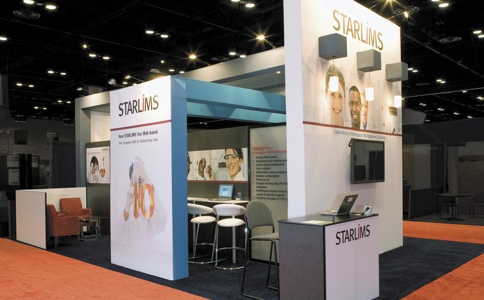 trade show events displays skytruss