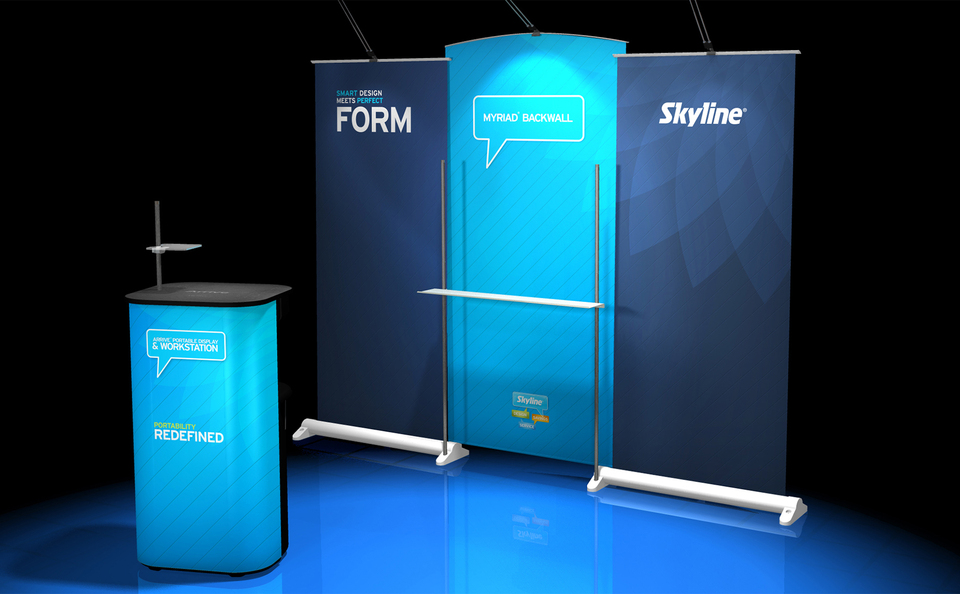 Portable Banner Stand Arrive System