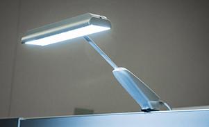 TriaSol LED trade show exhibit lighting
