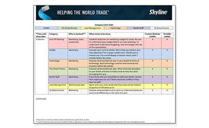 Skyline Trade Show Planning Timeline PDF