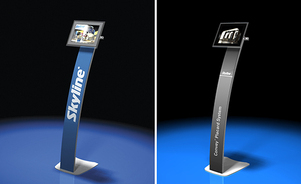 trade show tables - your info front and center