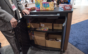 trade show counters - valuable storage space