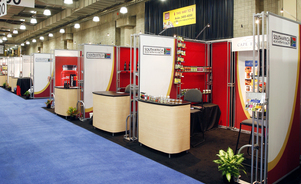 trade show counters - rental exhibits & counters