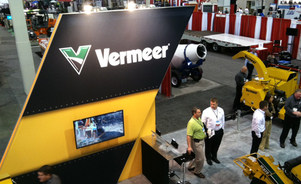 Vermeer custom island exhibit display