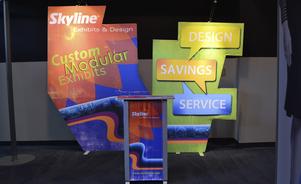 Modular Inline Trade show display creative