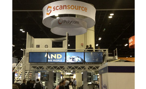 ScanSource Double Deck signage rotating