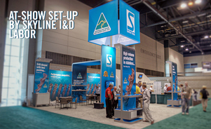 The Skyline Chicago Service Center Team Can Setup and Tear Down your Show Displays for you.