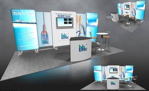 Skyline Connecticut - BioLetic - modular inline trade show exhibit