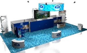 Nestle Waters trade show booth