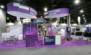 Skyline Exhibits New Jersey Savient trade show booth