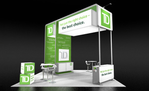 Skyline Exhibits New Jersey Coverall TD Bank trade show booth