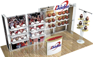 trade show display backwalls and towers - Inliten® exhibit system