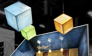 trade show events exhibits picturecube hanging signs