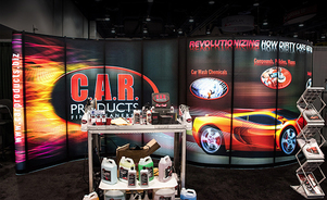 trade show events exhibits mirage backlighting