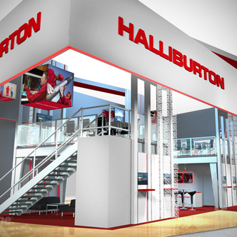 Halliburton Large Island Exhibit
