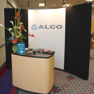 ALCO Reception Pop-Up Display and Table
