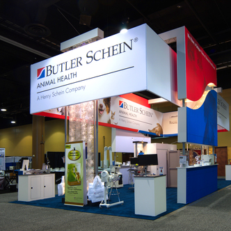 Butler Schein Animal Health Island Exhibit