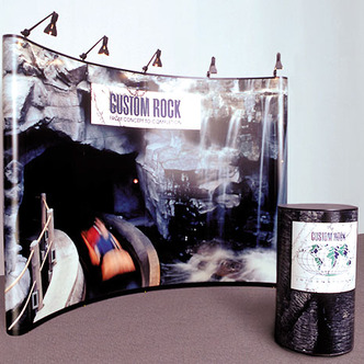 Custom Rock Portable Skyline Pop-Up Display
