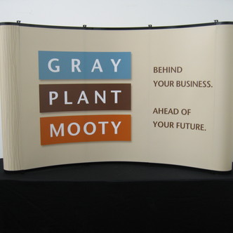 Gray, Plant & Mooty Portable Tabletop Display