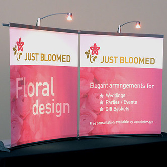 Just Bloomed Banner Stand Tabletop Displays
