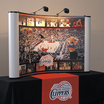 Los Angeles Clippers Tabletop Tradeshow Display