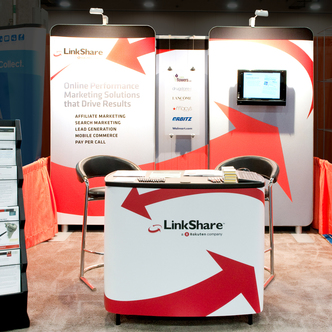 LinkShare Inline Exhibit and Trade Show Table