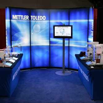 Mettler Toledo Backlit Pop-Up Trade Show Display